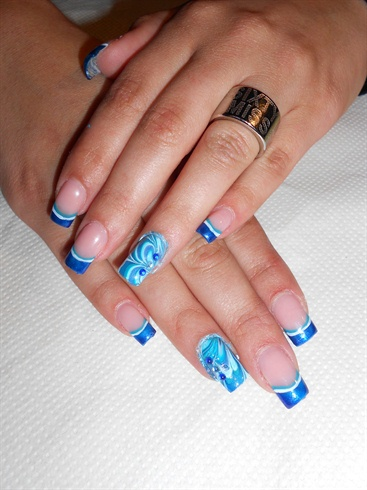 Blue water marble