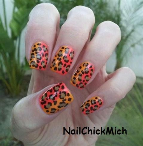Leopard Print on Nails