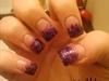 Purple and black fade
