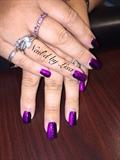 Black And Purple Swirled