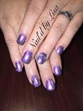 Purple, Swarovski, Nail Ring, Piercing