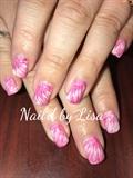 Pink White Gel Marbling