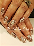 Rose Gold And Flowers