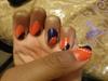 Blue Cut with Neon Orange
