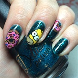 Doh! Simpsons Nails