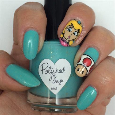 Princess peach! - Princess Peach! - Nail Art Gallery