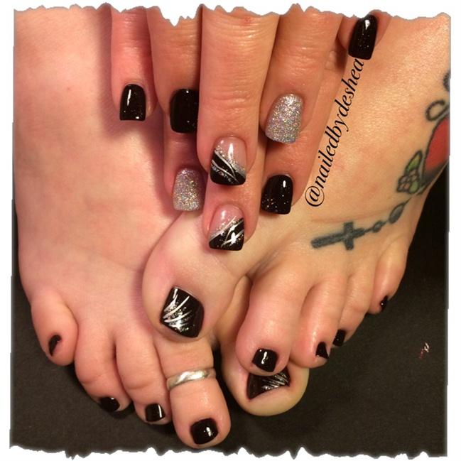 matching mani pedi - Nail Art Gallery