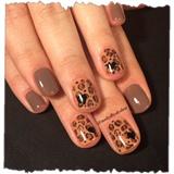leopard heart shellac