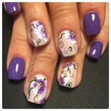 Onestroke Nailart Flowers