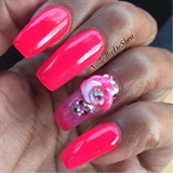 Hot Pink Acrylic Flower