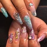 Custom Glitter Acrylic Bling