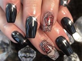 nail art: Rose At Dusk