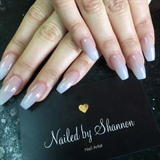 Pink And White Ombré