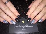 Chrome Nails Black Nails