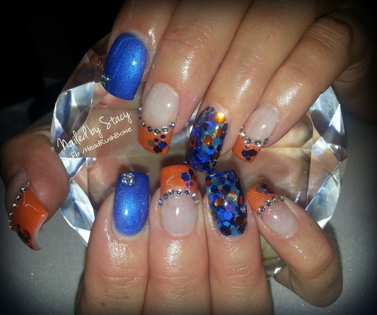 Go Boise State Football - Nail Art Gallery