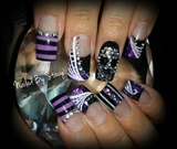 Halloween Haunted Circus Nails