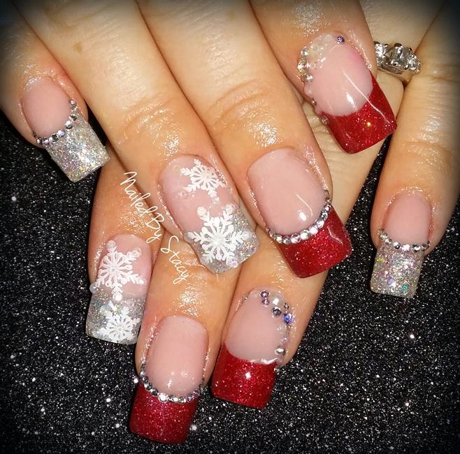 Winter Snowflake Nails - Nail Art Gallery