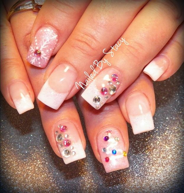 Pink Christmas Nails - Nail Art Gallery