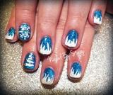Winter Snowflake Gel Manicure