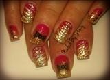 Red & Gold Zebra Christmas