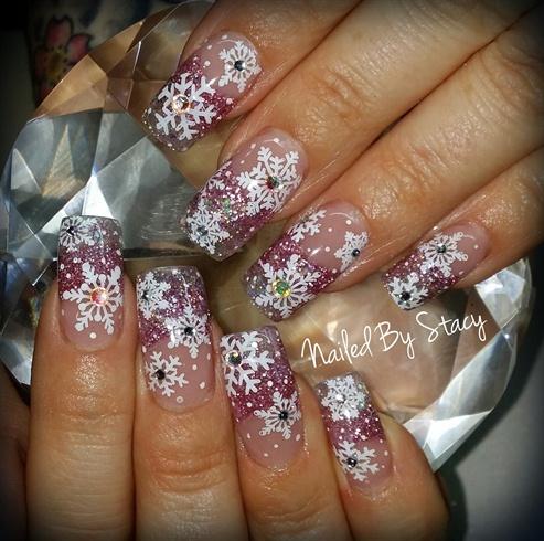 Pink Snowflake Snowglobe