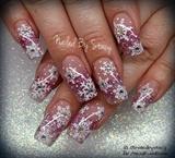 Pink Snowflake Snowglobe Nails