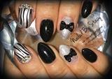 New Years Tuxedo Nails