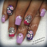 Animal Print, purple and pink