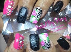 nail art: Spider Princess