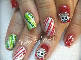nail art: Nightmare Before Christmas