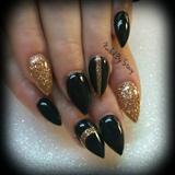 black and gold elegance