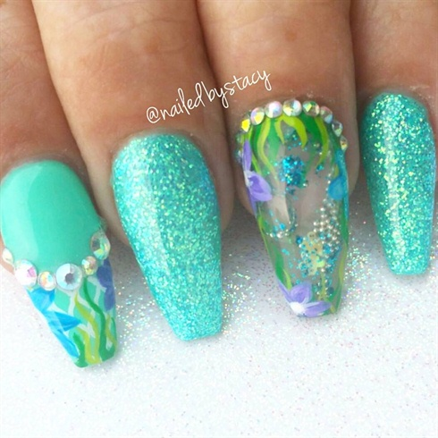 Ocean Aquarium Water Nails