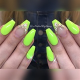 Neon Lime ballerina Coffin