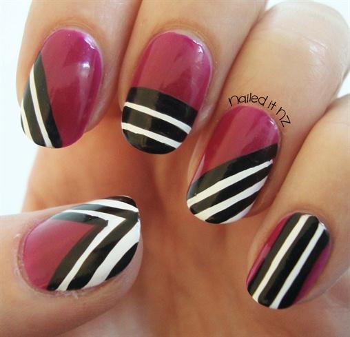 Modern pink nail art nail art gallery modern pink nail art prinsesfo Images