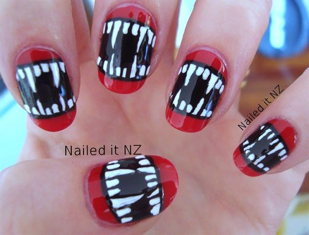 Vampire Nail art - Nail Art Gallery