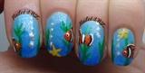 Clown fish/nemo nails