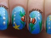 Clown fish/nemo nails