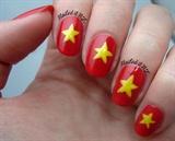 Vietnam flag nails