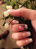 Acrylic nails (Pink & White)