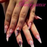 Stiletto Glitter Nails