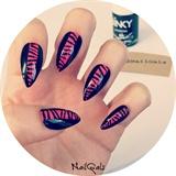 red and black zebra print nails