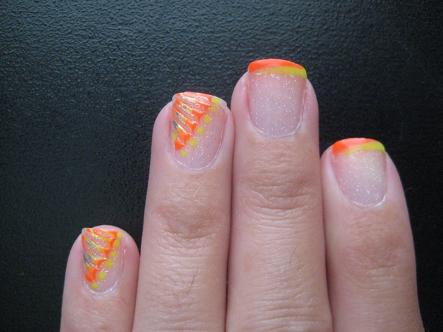 Фото ногти неоновый френч