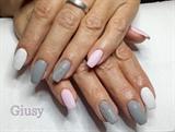 grey,pink & white
