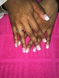 Pink N Whit Ombre