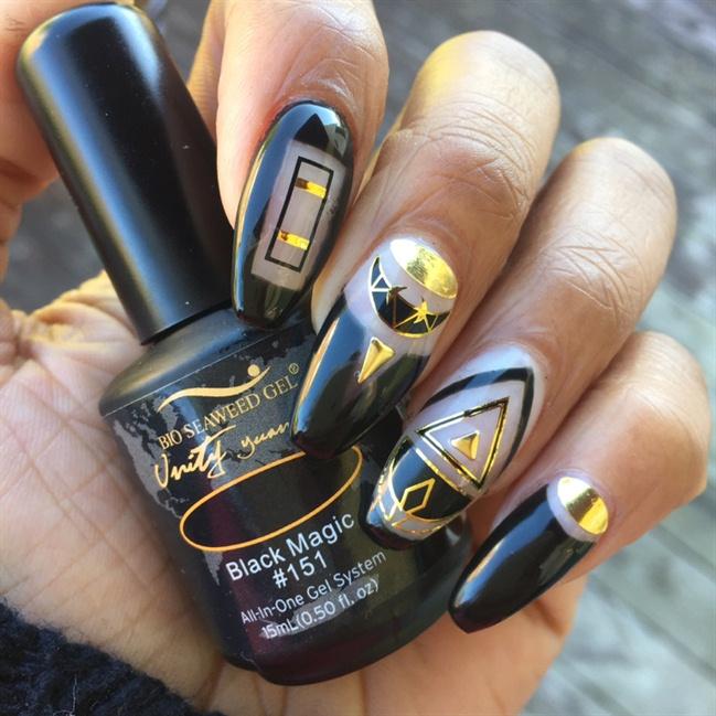 BSG Black Magic X Wrap Artist Nails - Nail Art Gallery