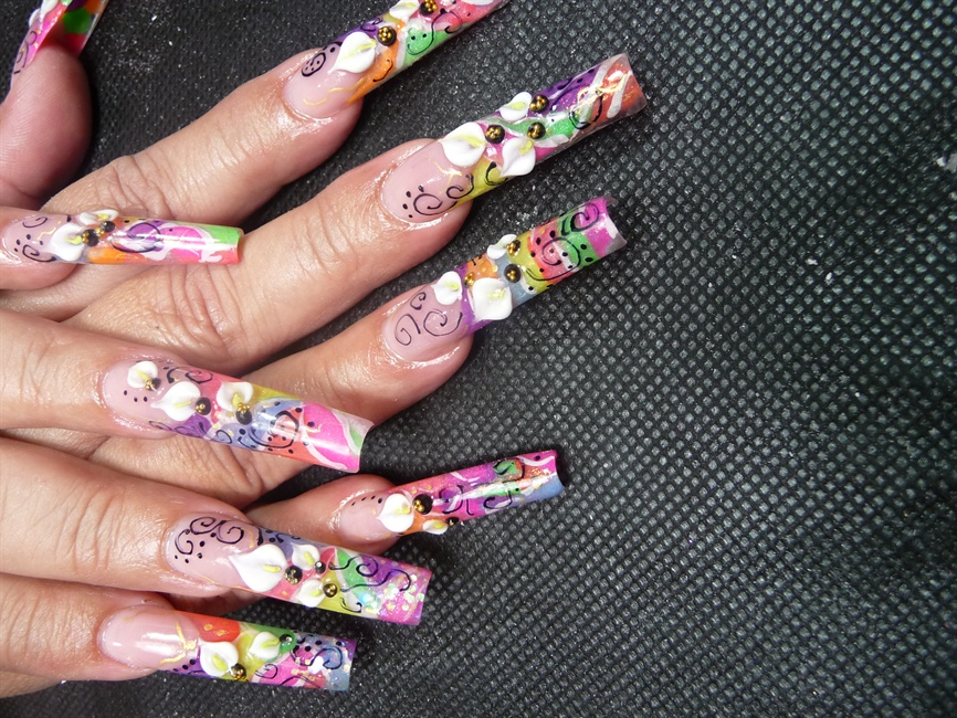 mexican flower pot - Nail Art Gallery