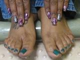 Rock Star Toes and Nail Art