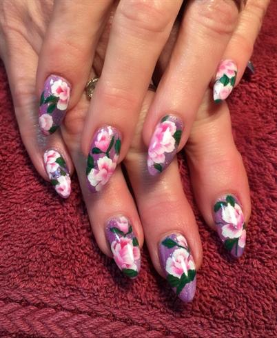 spring flowers  nail art gallery