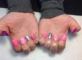 Acrylic Nails With Gelish And Nail Art
