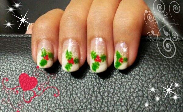 Christmas Mistletoe Nalis Nail Art Gallery